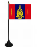 45 Commando Royal Marines Desk / Table Flag with plastic stand and base.